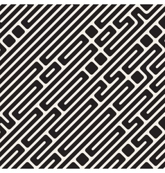 Seamless Black and White Diagonal Maze vector
