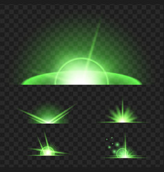 set of blue glowing light effect isolated on vector image
