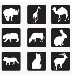 silhouettes of animals 5 vector image