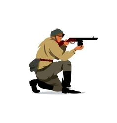 soviet army soldier Cartoon vector image