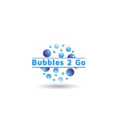 Stylish bubble logo design vector