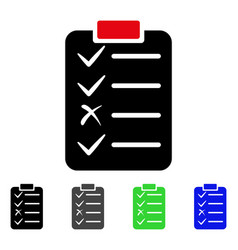 task list flat icon vector image