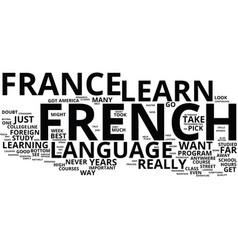 the essential guide to learn french in france vector image