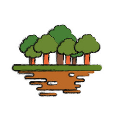 Trees forest symbol vector