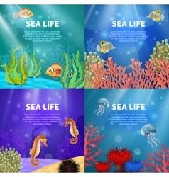 Underwater Landscape Set vector image