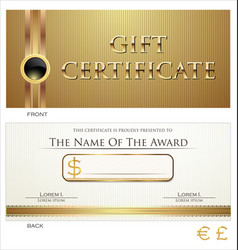 voucher gift certificate coupon brown layout vector image