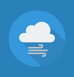 Weather Flat Icon Cloud and Windy vector