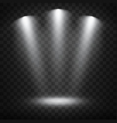 white spotlights on transparent background vector image