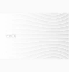 white wavy abstract background vector image