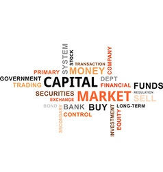 word cloud capital market vector image