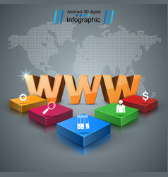 www web internet - business infographic vector image