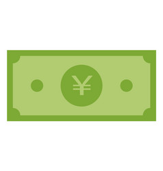 Yuan money icon on white background flat style vector