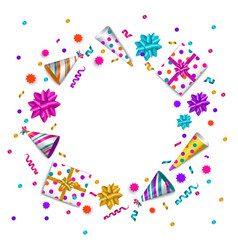 birthday greeting card banner with space for text vector image