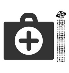 first aid icon with professional bonus vector image