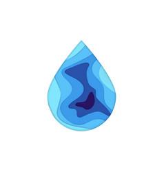 papercut water drop vector image