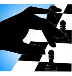 chess play vector image vector image