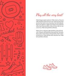 Cricket sport game graphic design concept vector image