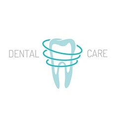 Dental care logo vector image vector image