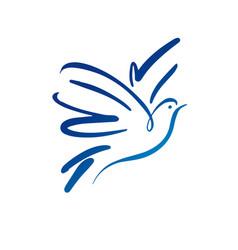 Dove logo template concept logo vector