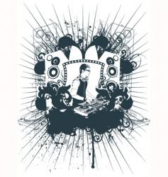 emblem Dj vector image vector image