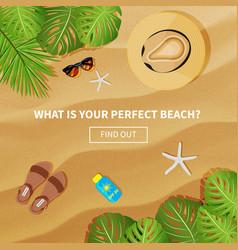 flat banner for summer travel vector image