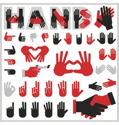 hands icons vector image vector image