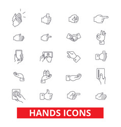 hands pointings tap rotate touch press swipe vector image vector image