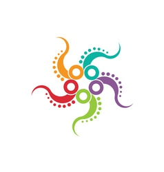 Octopus logo image vector image vector image
