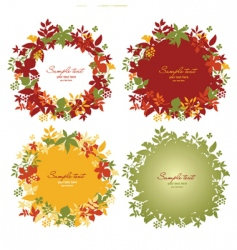 set of floral frames vector image vector image