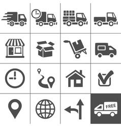 Transportation icons set Simplus series vector image