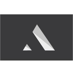 Alphabet letter A simple logo icon design vector image
