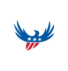 American Eagle Flying USA Flag Retro vector image vector image