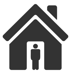 House Owner Flat Icon vector image vector image