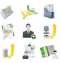 recruiting icon set vector image vector image