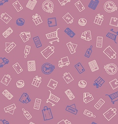 Shopping discount sale seamless pattern vector image