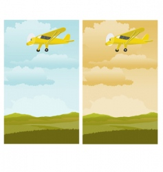 single engine plane vector image vector image