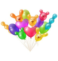 A festive bunch of bright balloons vector image vector image