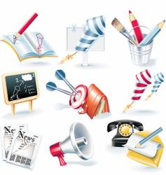 advertising campaign icon set vector image vector image