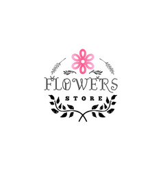 badge for small businesses - flower shop counter vector image