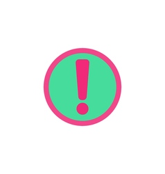 Exclamation Icon vector image