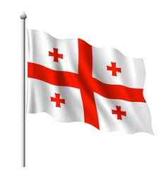 Flag of Georgia vector image vector image