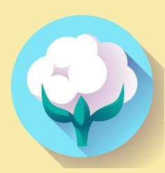flat cotton icon vector image vector image
