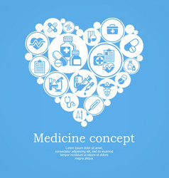medical heart concept blue vector image vector image