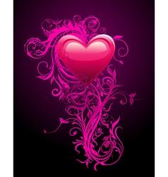 Romantic Heart Decoration vector image vector image