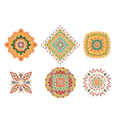 set of colored elements vector image