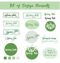 spring sale background set of design elements vector image