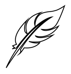white figure feather icon stock vector image vector image