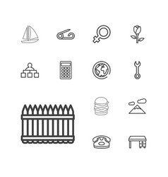13 icons vector