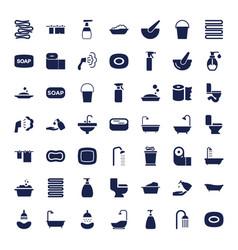 49 bath icons vector