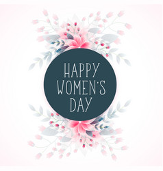 8th march happy womens day flower wishes greeting vector